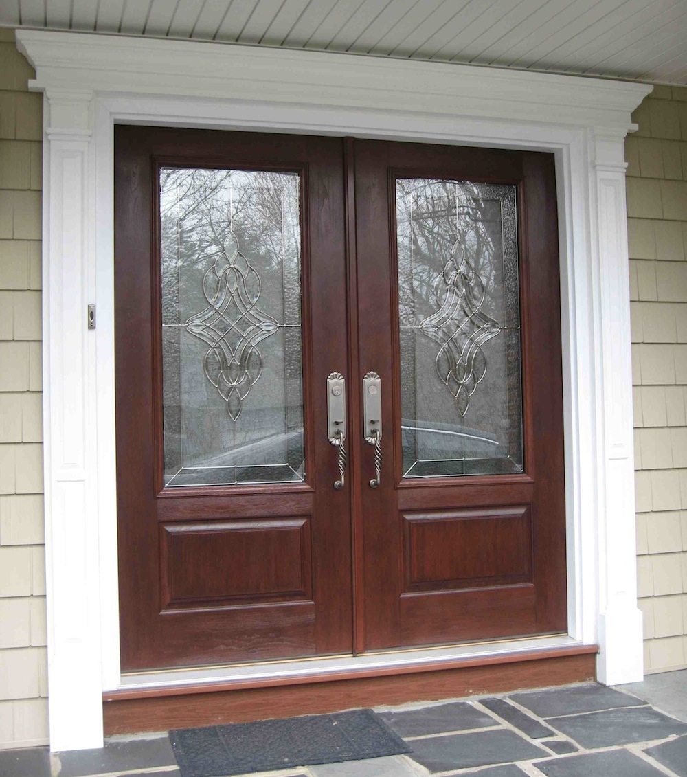 Double doors royal home products inc serving long for Entry door with window